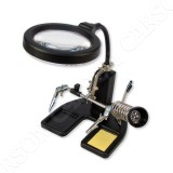 Professional Solder Station Magnifier CP-50 with 16 LED
