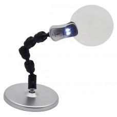 Stolní lupa 2,5x/6x s LED světlem TL-25