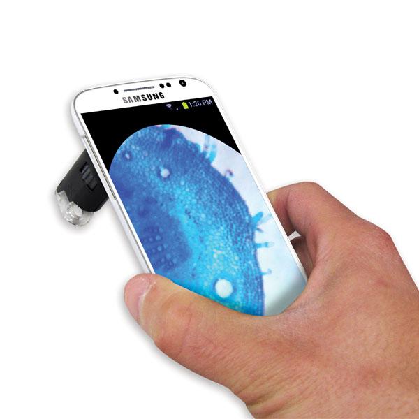 Mikroskop 60-100x s adaptérem na Samsung Galaxy Carson MM-240